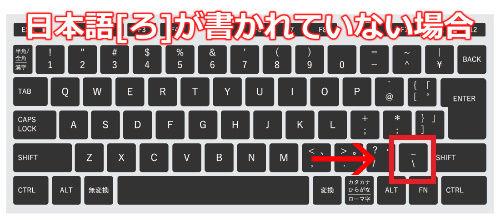 ろキーがない場合のキーボード画像