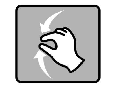 指での操作イラスト